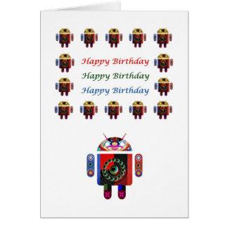 Cumpleaños ANDROIDE de HappyBirthday feliz Tarjeta De Felicitación
