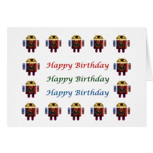 Cumpleaños ANDROIDE de HappyBirthday feliz Felicitación