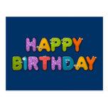 cumpleaños animal del alfabeto postales