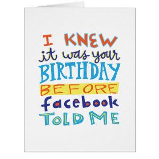 Cumpleaños antes de la tarjeta divertida de