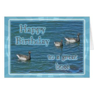 Cumpleaños atlántico de Boss de los gansos de barn Tarjetón
