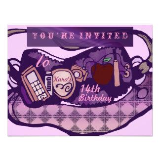 Cumpleaños atractivo comunicados personalizados