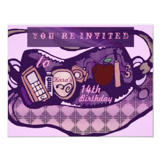 Cumpleaños atractivo invitación 10,8 x 13,9 cm