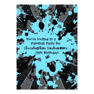 Cumpleaños azul enrrollado de Paintball de la salp