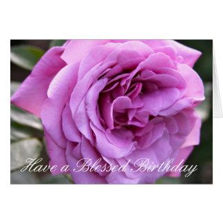 Cumpleaños bendecido tarjetón