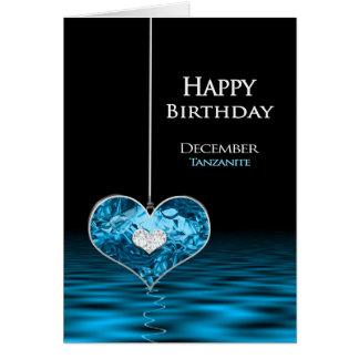 Cumpleaños - Birthstone - diciembre - Tanzanite Tarjeta De Felicitación
