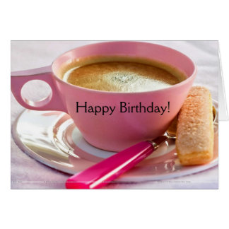 Cumpleaños Biscotti y tarjeta de cumpleaños del ca