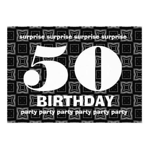 Cumpleaños blanco y negro V003 de la sorpresa Anuncios Personalizados