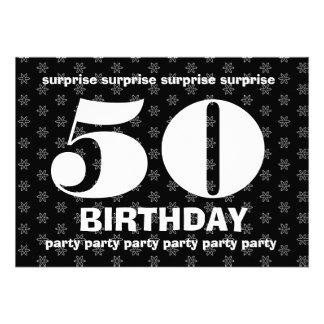 Cumpleaños blanco y negro V012 de la sorpresa de l Comunicados Personales