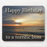 Cumpleaños Boss Mousepad de la salida del sol Alfombrillas De Ratones