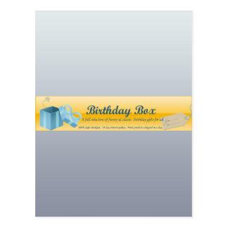 cumpleaños-caja-jefe tarjetas postales