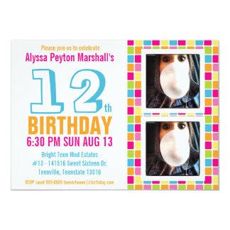 Cumpleaños colorido adolescente o del tween de la invitación 11,4 x 15,8 cm