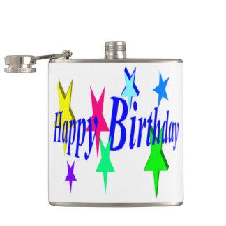 Cumpleaños colorido petaca