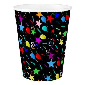 Cumpleaños colorido vaso de papel