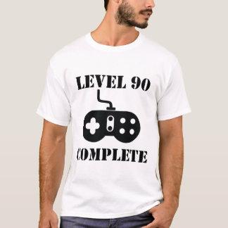 Cumpleaños completo del nivel 90 90.o camiseta