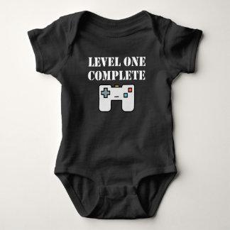 Cumpleaños completo del nivel uno primer body para bebé
