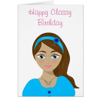 Cumpleaños con clase tarjeta de felicitación