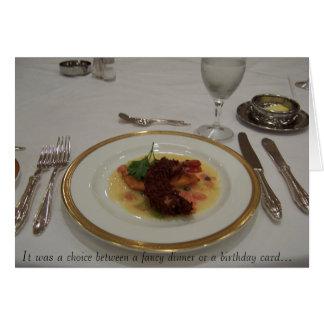 Cumpleaños costoso tarjeta de felicitación