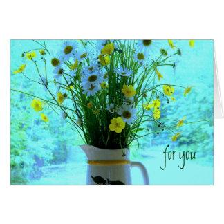 Cumpleaños cristiano de los Wildflowers Felicitación