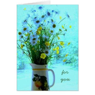 Cumpleaños cristiano de los Wildflowers Tarjetón