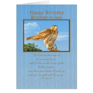Cumpleaños, cuñado, tarjeta Áspero-legged del