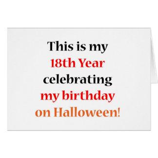 Cumpleaños de 18 Halloween Tarjetas