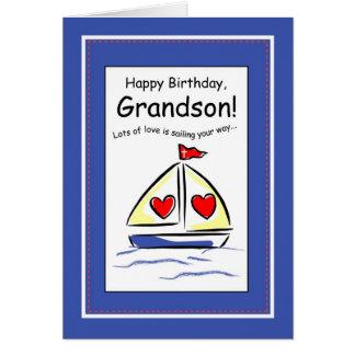 Cumpleaños de 3416 nietos barco de vela cristian felicitacion