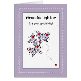 Cumpleaños de 3423 nietas, religioso tarjeta de felicitación