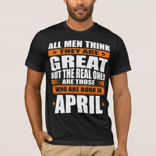Cumpleaños de abril camiseta