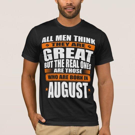 Cumpleaños de agosto camiseta