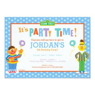 Cumpleaños de Bert y de Ernie Invitación 12,7 X 17,8 Cm