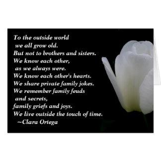 Cumpleaños de Brother/de la hermana Tarjeta