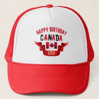 Cumpleaños de Canadá del feliz cumpleaños 150o - Gorra De Camionero