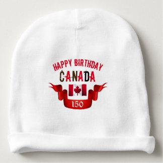 Cumpleaños de Canadá del feliz cumpleaños 150o - Gorrito Para Bebe