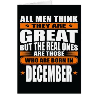 Cumpleaños de diciembre (añada su texto) tarjeta de felicitación