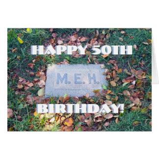 Cumpleaños de encargo divertido del humor mórbido tarjeta de felicitación