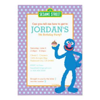 Cumpleaños de Grover Invitación 12,7 X 17,8 Cm