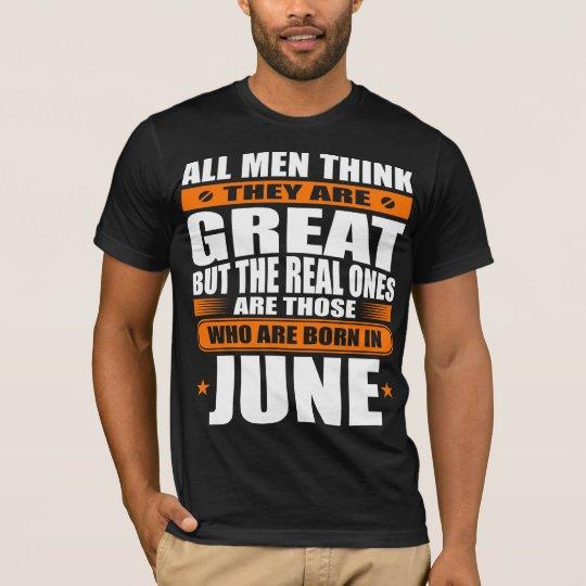 Cumpleaños de junio camiseta