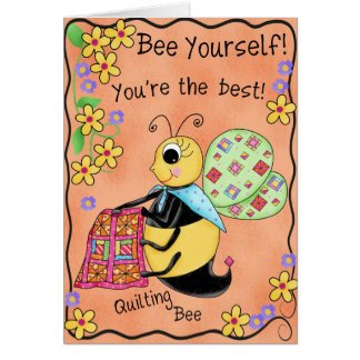 Cumpleaños de la abeja banal de la miel de la tarjeta de felicitación