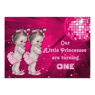 Cumpleaños de la bola de discoteca de princesa invitación 12,7 x 17,8 cm