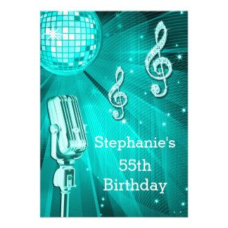 Cumpleaños de la bola de discoteca del trullo y invitacion personal