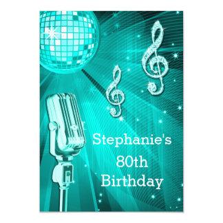 Cumpleaños de la bola de discoteca del trullo y invitación 12,7 x 17,8 cm