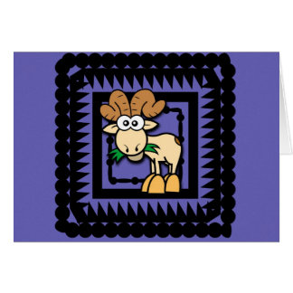 Cumpleaños de la cabra del dibujo animado tarjeta de felicitación