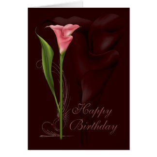 Cumpleaños de la cala tarjeta de felicitación