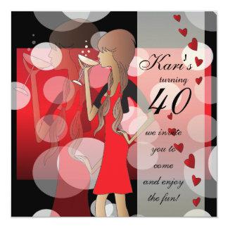Cumpleaños de la chica marchosa de DIY Invitación 13,3 Cm X 13,3cm