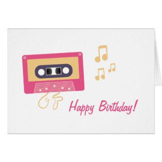 Cumpleaños de la cinta de casete tarjeta de felicitación