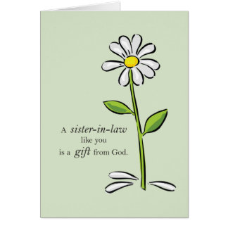 Cumpleaños de la cuñada, flujo verde religioso de tarjeta de felicitación