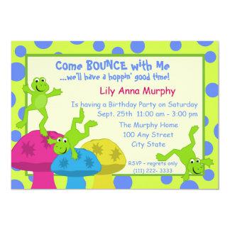 Cumpleaños de la despedida de la rana invitación 12,7 x 17,8 cm