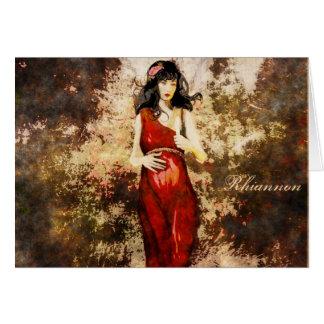 Cumpleaños de la diosa tarjeta de felicitación
