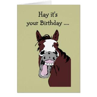 Cumpleaños de la diversión de largo en el humor de tarjetas